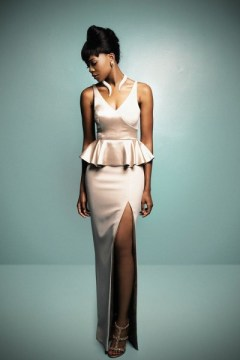 stylish peplum with cut bellanaija dress