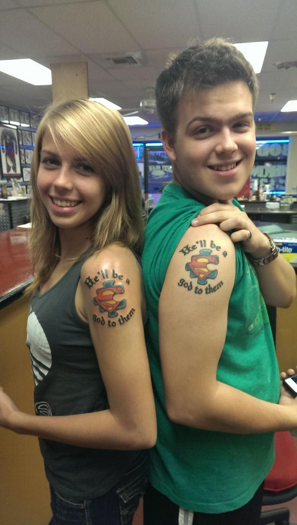 Bedwelming brother sister puzzle piece match tattoo - FMag.com &KG54