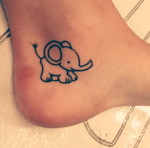 cartoon elephant tattoo design fmag com rh fmag com Mama and Baby Elephant Tattoo cartoon elephant tattoos designs