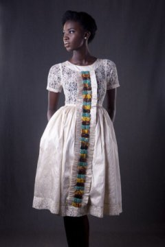afromantic white bella naija dress