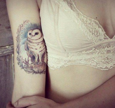deity owl tattoo