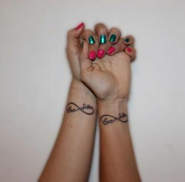 infinity tattoo on inner wrist match tattoo