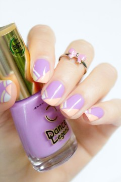 Geometric French Tip Nails