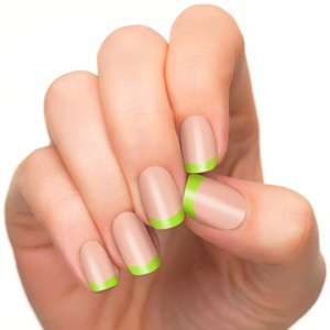 Lime Green French Tips