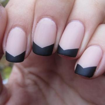 Matte Chevron French Tips.