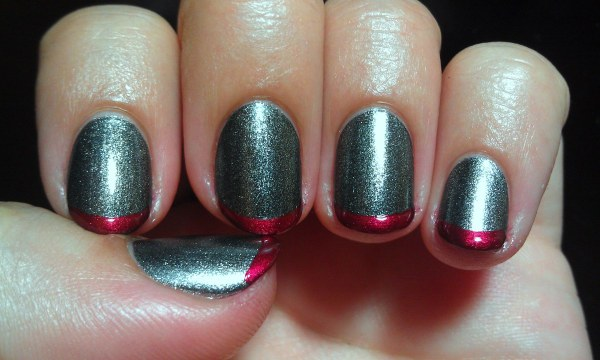 Modern Shiny Matte French Tips Manicure