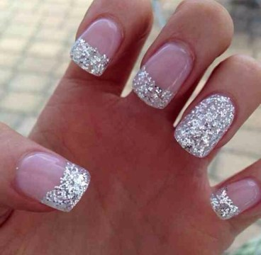 Sparkly Glitters French Tip