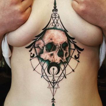abstract skull tattoo