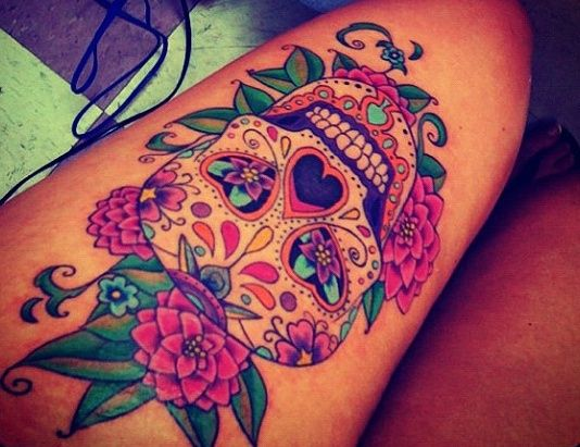 f373442cd 90 Stunning Skull Tattoo Ideas for Women - FMag.com