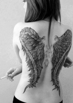angel's wings tattoo