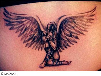 beautiful angel tattoo