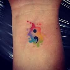 semicolon tattoo