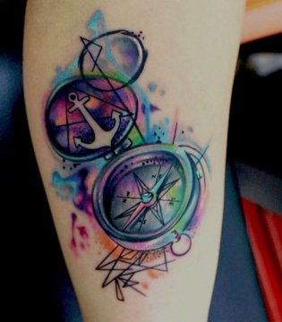 compass tattoo 2