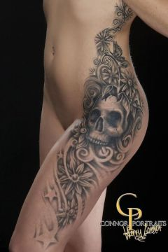 big side skull tattoo