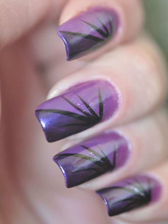 60 Amazing Purple Nail Designs Fmag