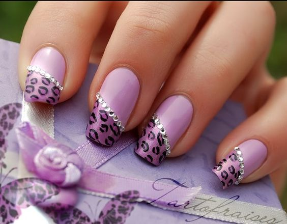 60 amazing purple nail designs fmag apply a top coat and put rhinestones on the line joining the two shades your purple cheetah nail art is ready 80fced8e1c25363e98b4462eae5a7808 prinsesfo Choice Image