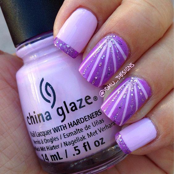 9b88f9d190c6d655f789dc2d139d3c10 - 60 Amazing Purple Nail Designs - FMag.com