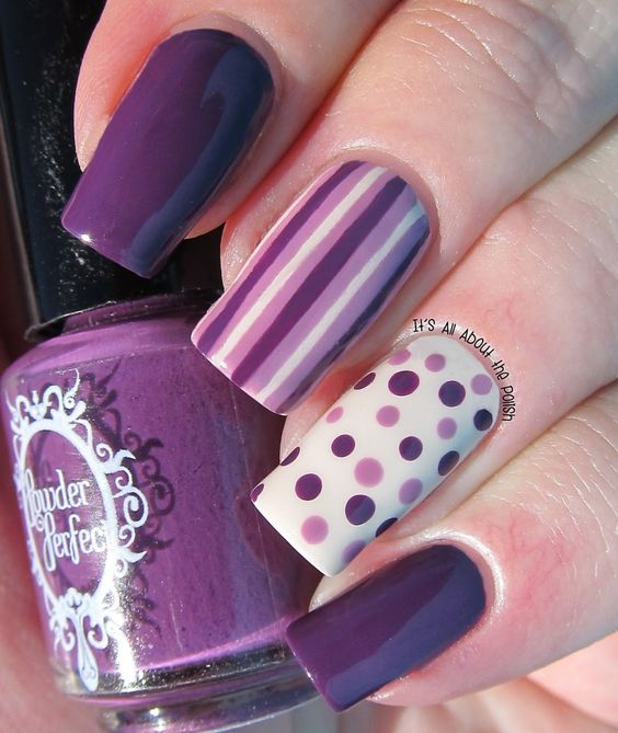 a4cdac7b586530240b5fcf2b03593ce0 - 60 Amazing Purple Nail Designs - FMag.com