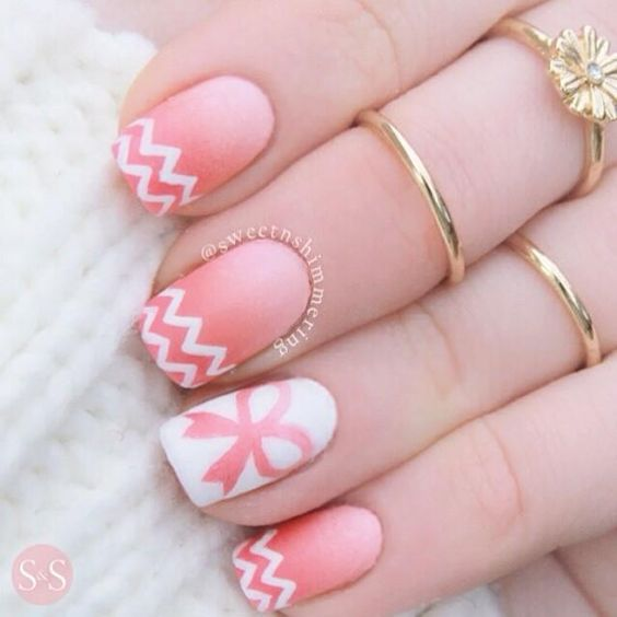 pink nail designs - 84 Perfect Pink Nails Designs To Look Amazing & Girly - FMag.com