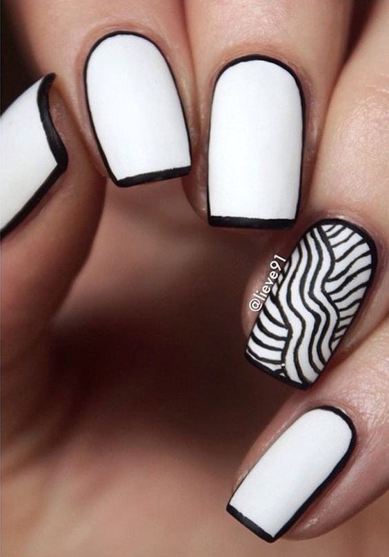 52 Classic Beautiful Black And White Nail Designs Ideas Fmag