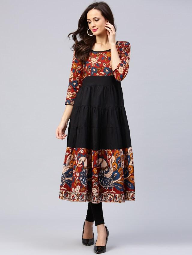 anarkali dress features