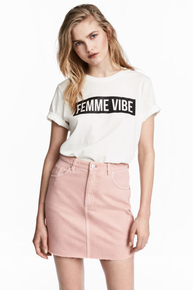 denim mini skirt pink