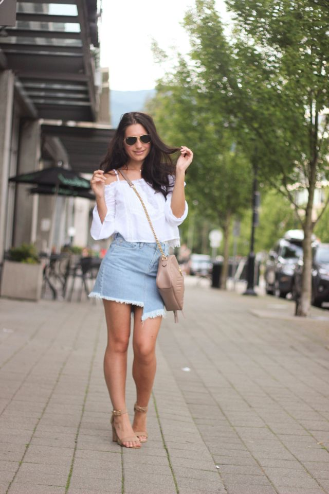 denim skirt featured