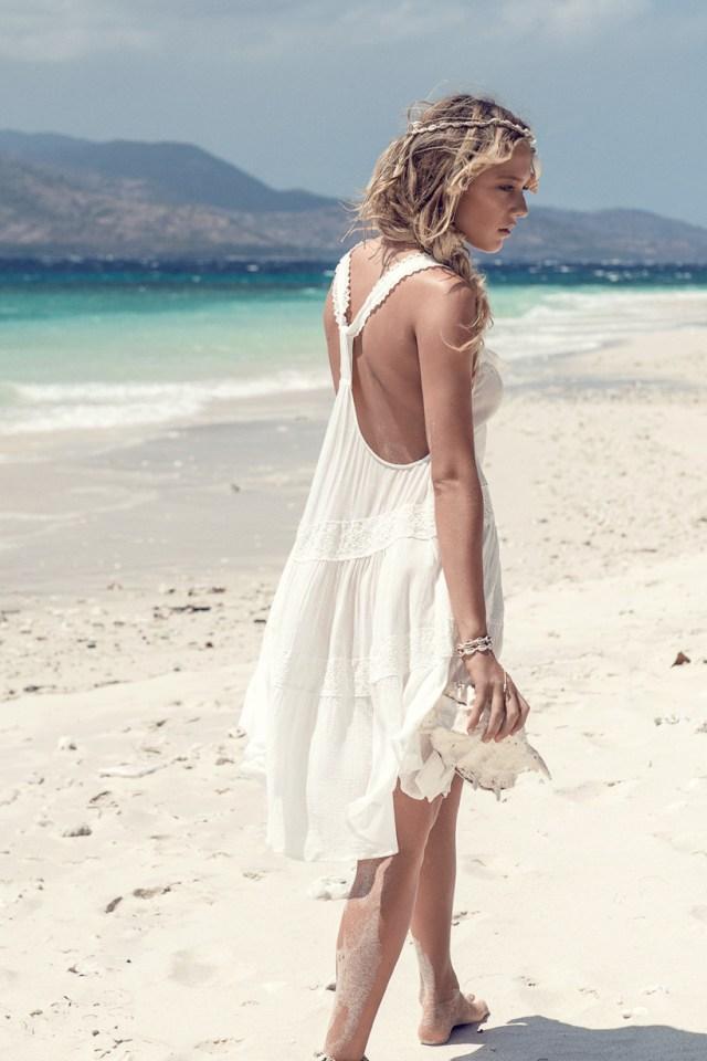 white boho wedding dress crochet
