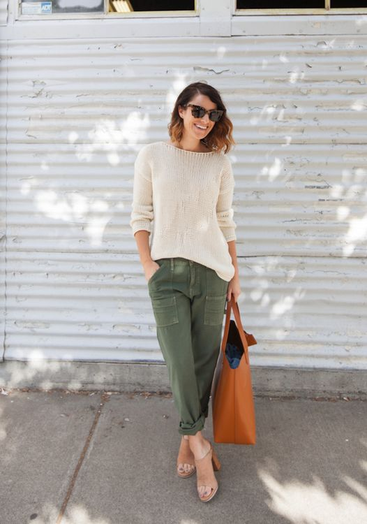 comfy sweater relaxed fit cargo pants