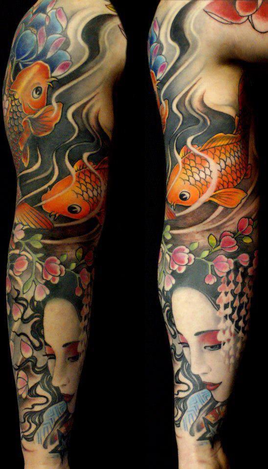 koi geisha tattoo