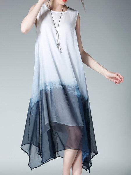tie dye black and white midi dress