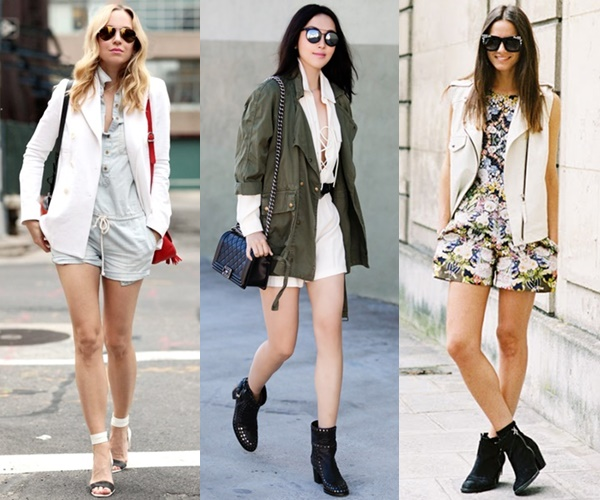 wear playsuit to wedding with jacket vest