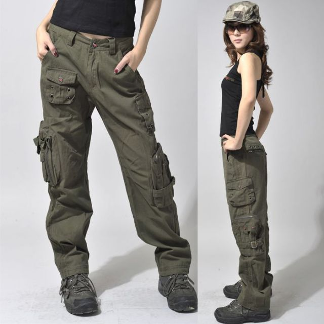 women hiking cargo pants with hat