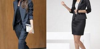 women wear suit ladylike feminine