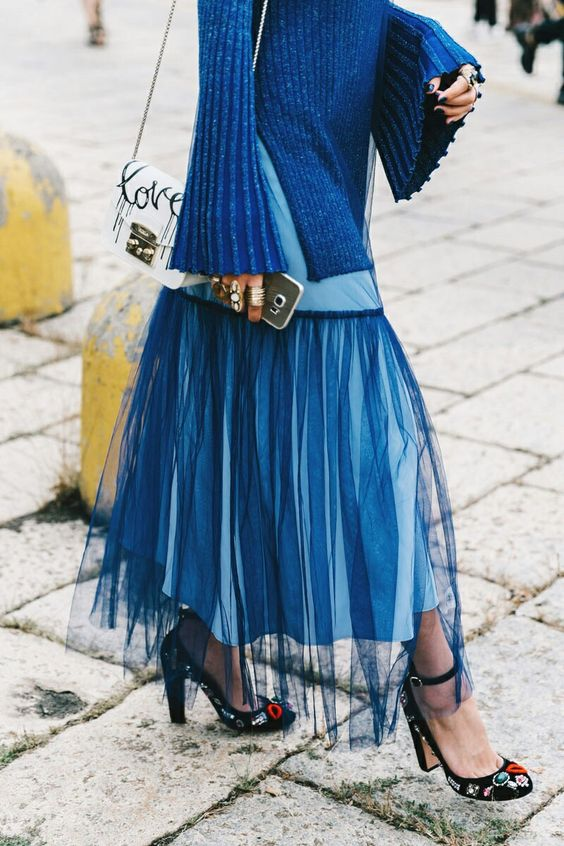 blue rhapsody tulle skirt