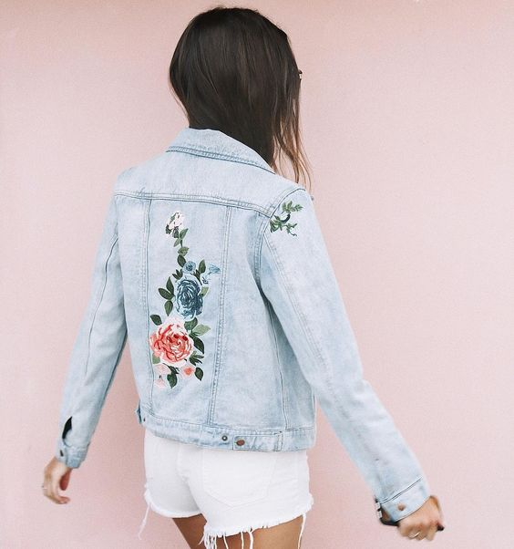 denim jacket embroidered