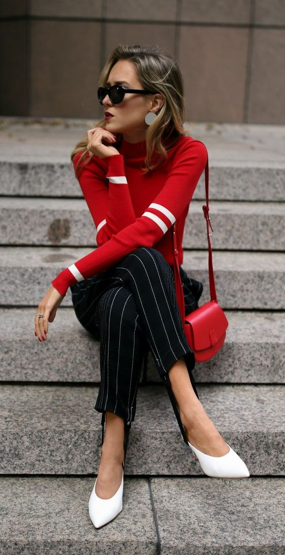 sweater stirrup red