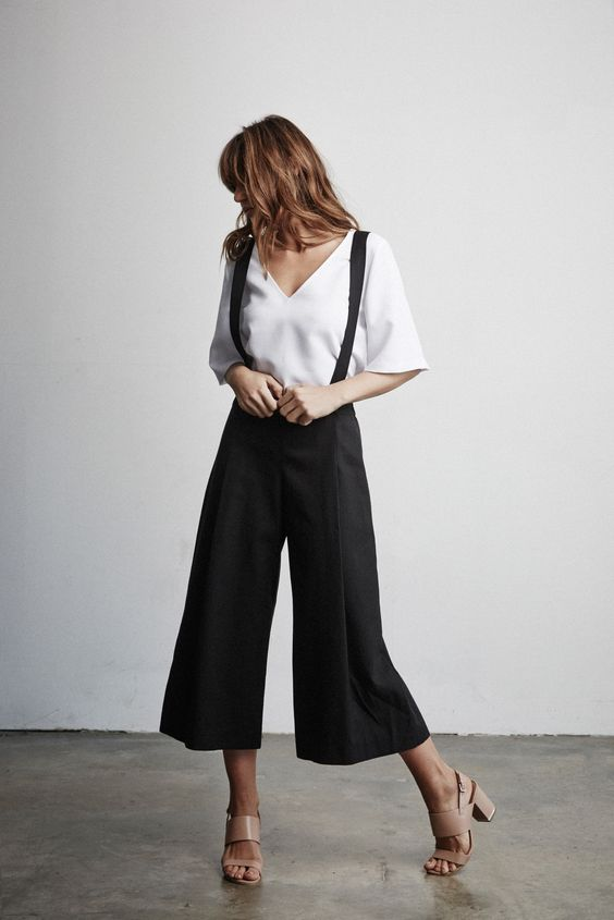 wide suspender pants