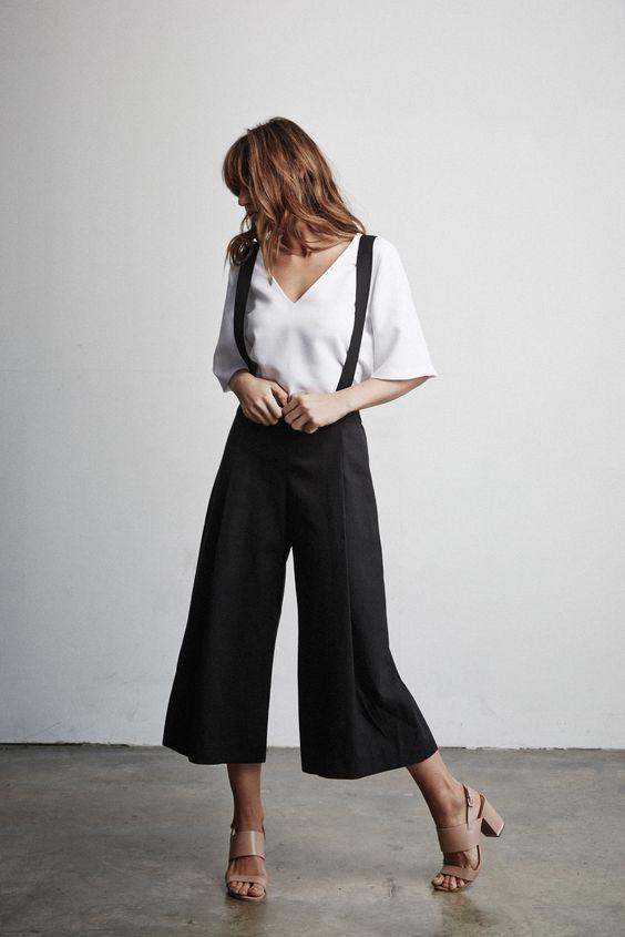 wide suspender pants