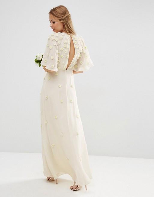3d floral maxi dress for wedding