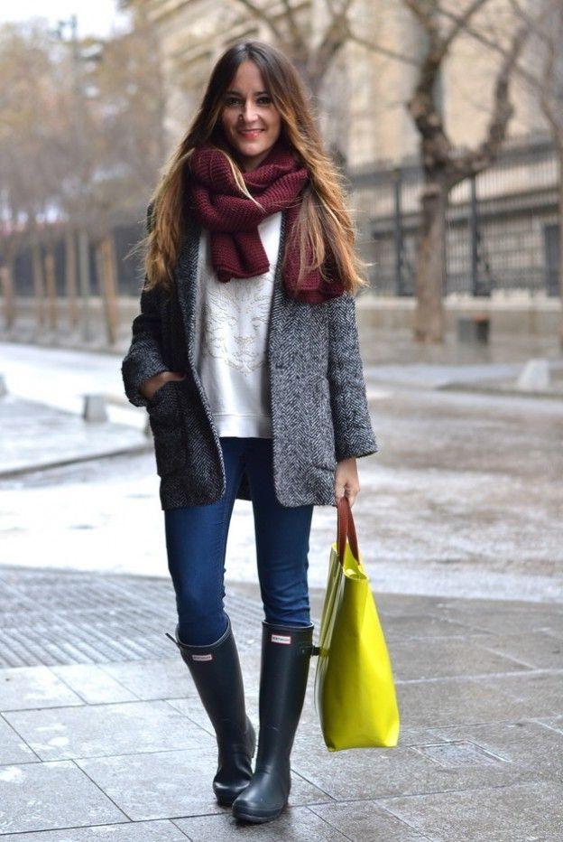 15 Beautiful Ways on How to Wear Rain Boots - FMag.com