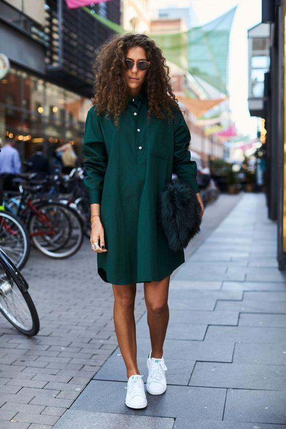 baggy emerald green dress