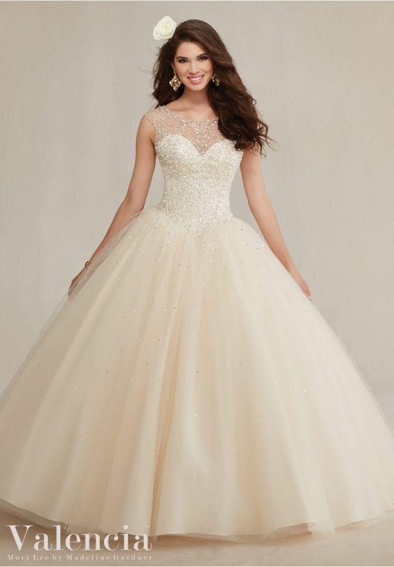 beige quinceanera dress classic
