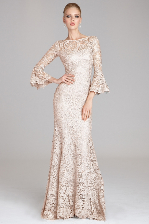 bell sleeves mother of the bride dresses