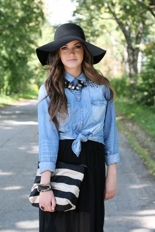 How To Wear Black Felt Hat For Women Outfit Ideas Fmag Com