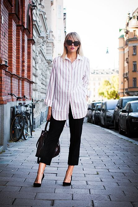 How To Wear Black And White Striped Shirt For Women Fmag Com