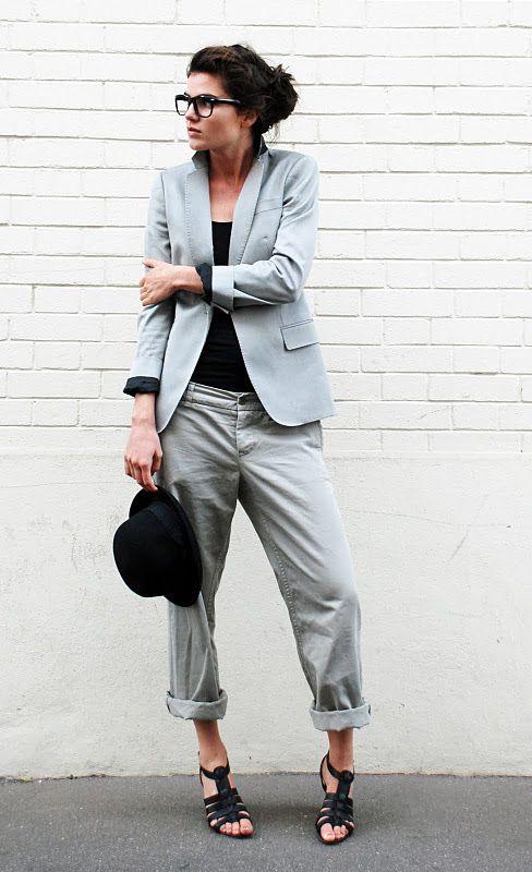 blazer grey chinos