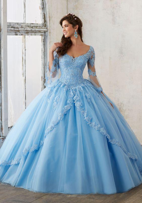 blue quinceanera dress classy