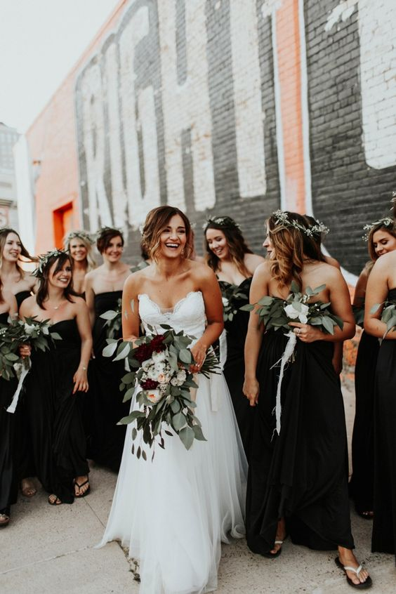 Images of black bridesmaid dresses