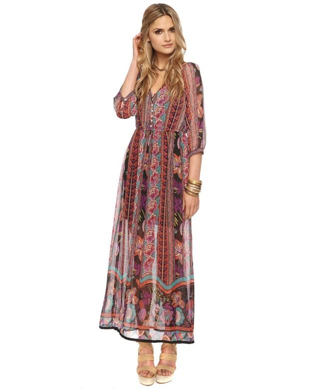 boho floral maxi dress